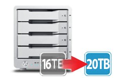 T4 Thunderbolt™ 2 RAID - HDD (16TB) --- Free upgrade to 20TB !   Order date during 4/25 ~ 5/7