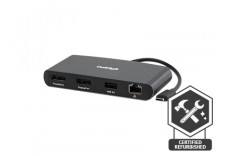 [Certified Refurbished] - Thunderbolt 3 mini Dock Dual DisplayPort (No Laptop Charging)