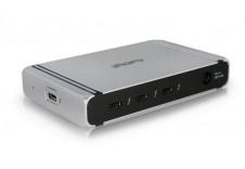 Thunderbolt 4 Element Hub - 4x Thunderbolt 4 / USB4 Ports, 4x USB 3.2 Gen2 10Gb Ports, Dual 4K@60 Support. 60W Laptop Charging with 0.8m Cable